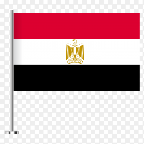 Flag of Egypt design PNG