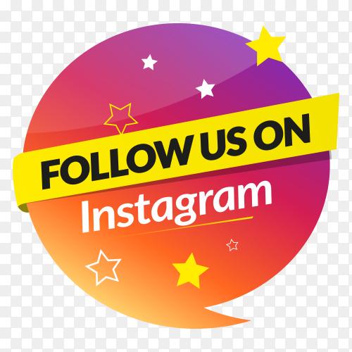 Follow us on Instagram – social media banner PNG