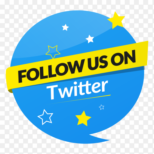 Follow us on Twitter – social media banner PNG