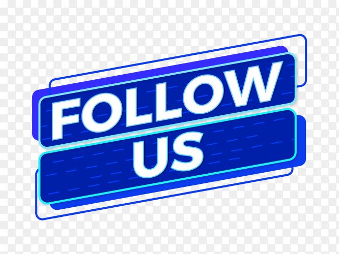 Follow us social media sign PNG