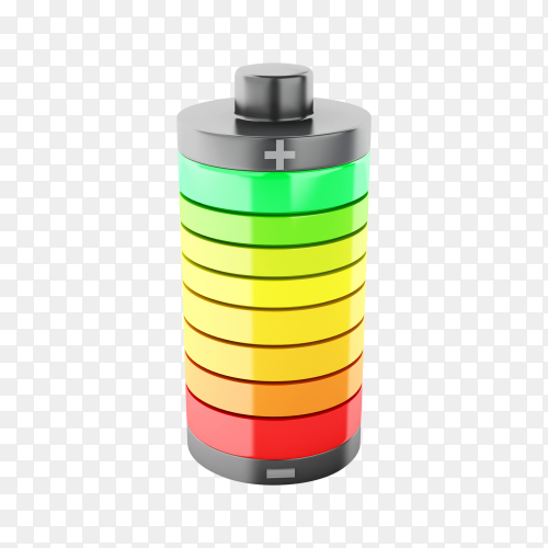 Full battery 3d PNG