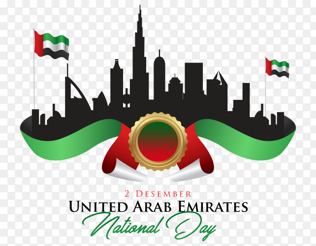 Happy national day UAE United Arab Emirates PNG
