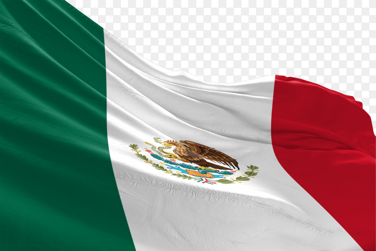 Mexican flag waving png