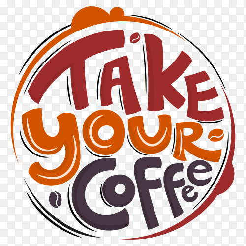 Take your coffee Vector PNG
