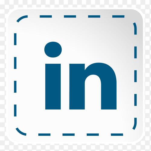 Linkedin logo icon social media sticky paper PNG
