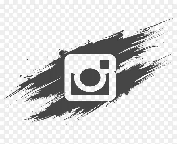 Logo Instagram Dark Grey Brush Social Media Png Similar Png