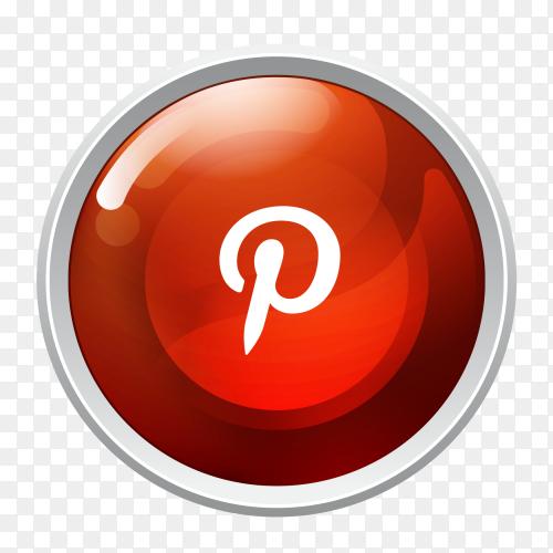 Logo Pinterest button social media PNG