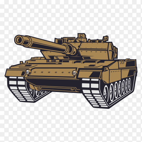 Military tank vehicle PNG