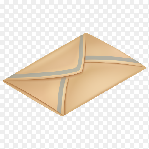 Old post paper envelope PNG