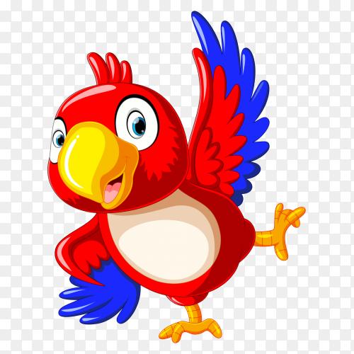Happy parrot cartoon dancing PNG