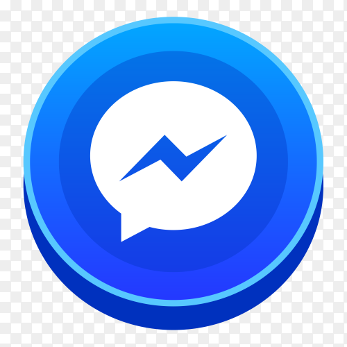 Realistic messenger logo social network PNG