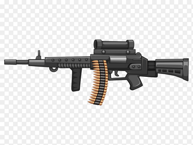 Rifle gun with bullets PNG