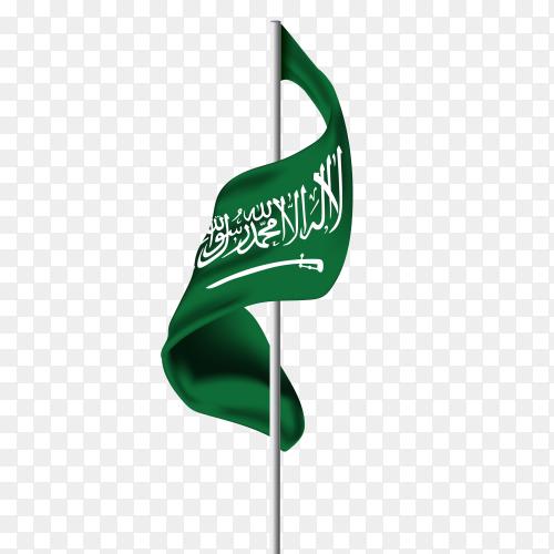 Saudi arabia flag pennant PNG