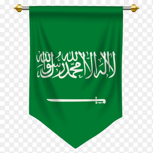 Saudi Arabia pennant flag PNG