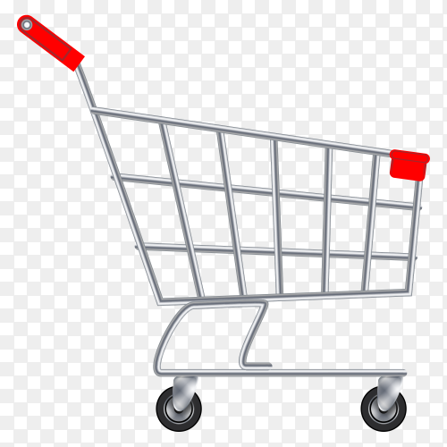 Shopping cart trolley big sale banner Vector PNG
