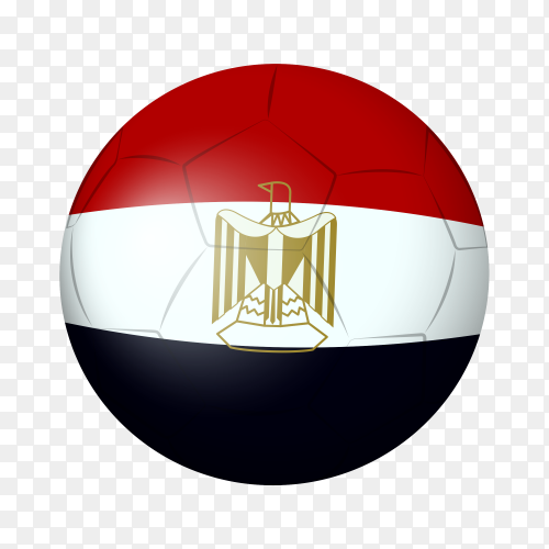 Soccer ball flag Egypt PNG