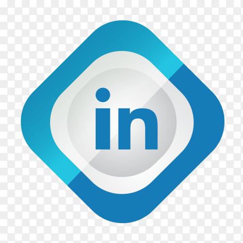 Social media logo Linkedin PNG