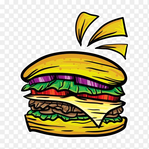 Burger food vector illustration PNG