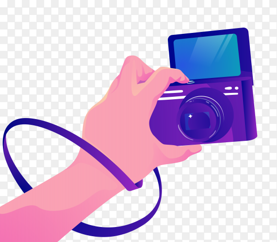 Flipped display camera PNG