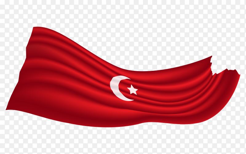 Turkey flag pennant transparent PNG