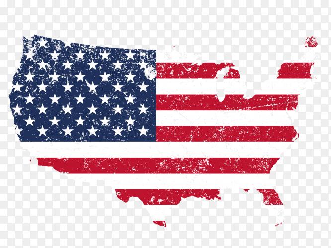 United States grunge flag PNG