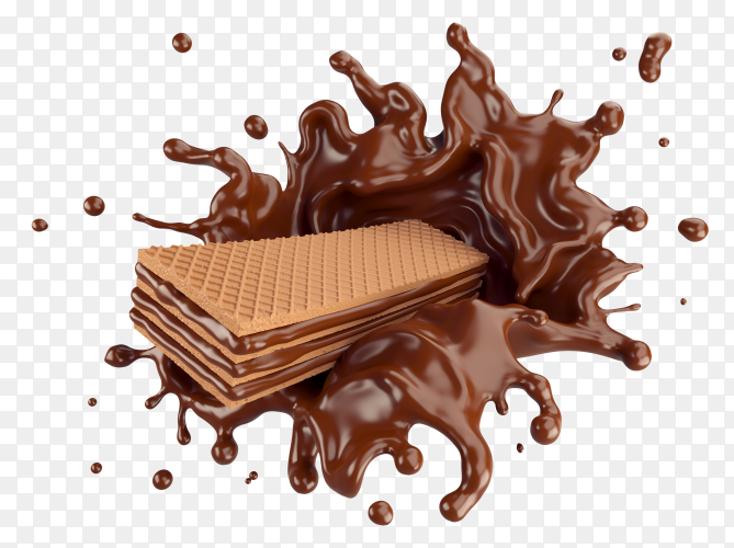 Wafers with chocolate splash PNG