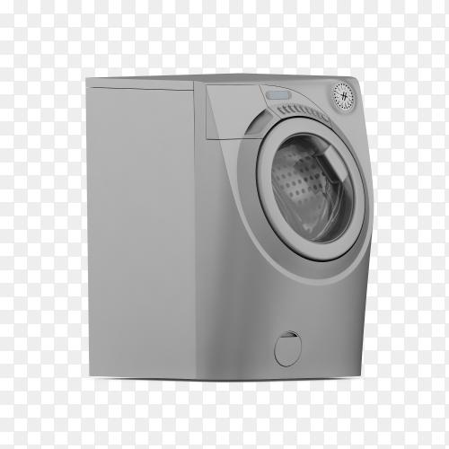 Washing laundry machine 3d PNG
