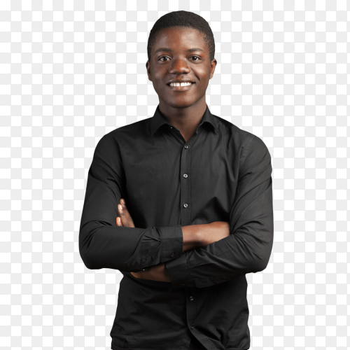 Young black man PNG
