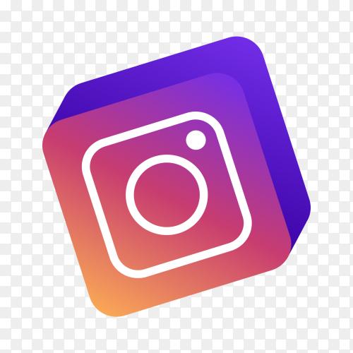 3D Instagram logo PNG