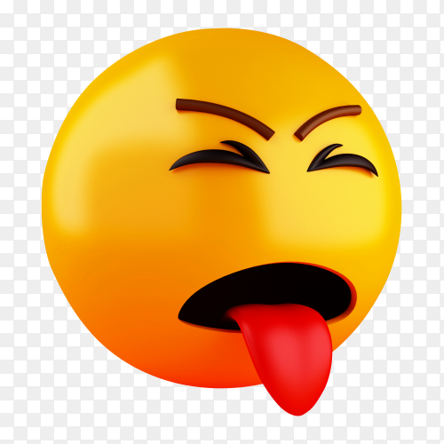 3D emoji icons with facial expressions PNG