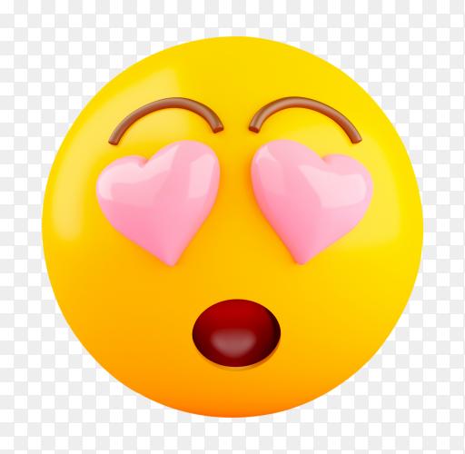 3D Emoji love PNG