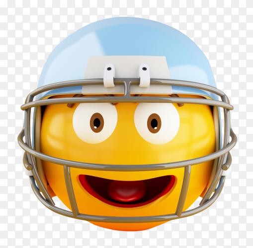 3D Emoji with american football helmet PNG