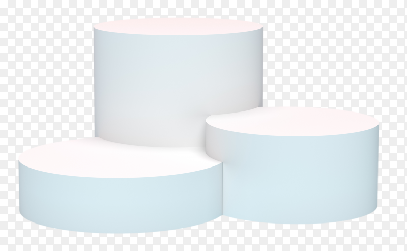 3d rendering – cylinder product display podium PNG