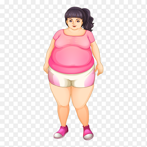 A fat girl Free download PNG