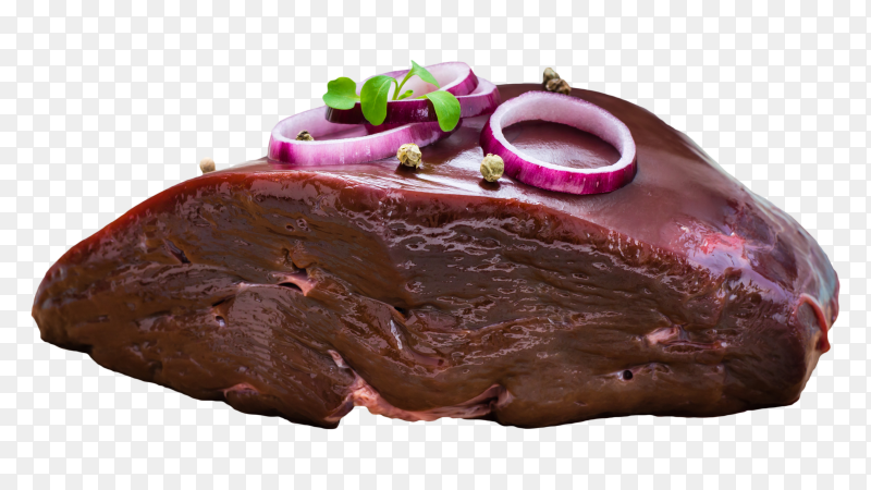 A piece of raw beef liver PNG