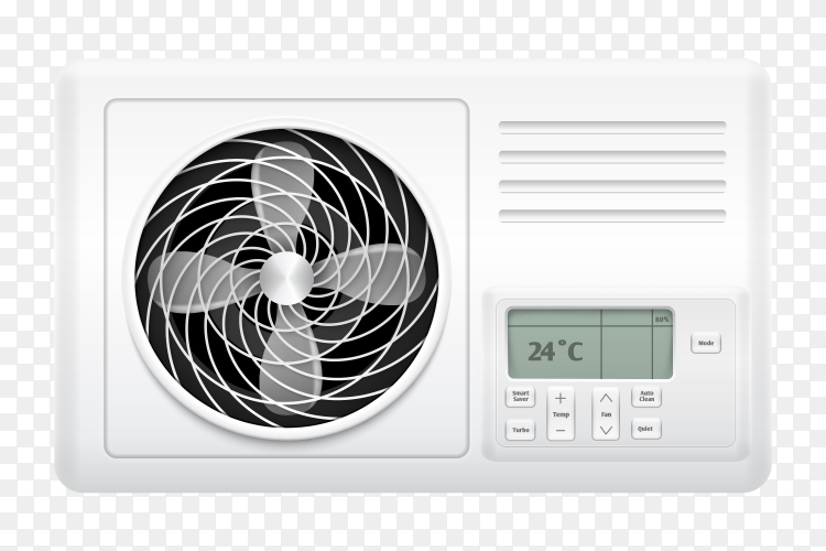 Air conditioner for home and office illustration vector PNG