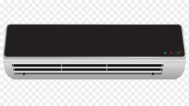 Air conditioning split system vector PNG