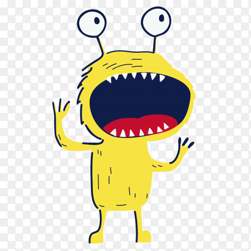 Angry monster vector free PNG