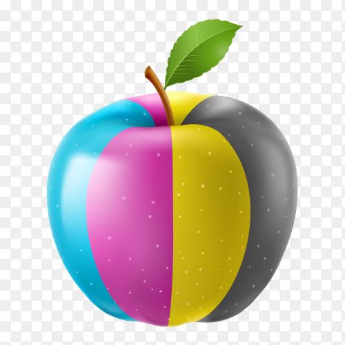 Apple CMYK colors PNG