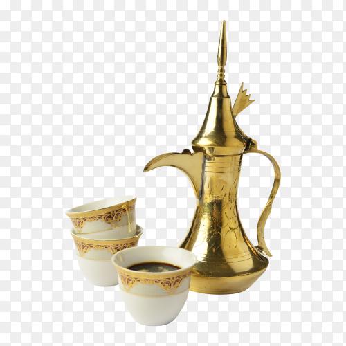 Arabic coffee set PNG
