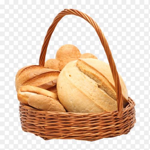 Arrangement of bread in basket transparent PNG
