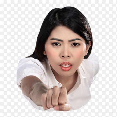 Asian business woman flying Premium Photo free PNG