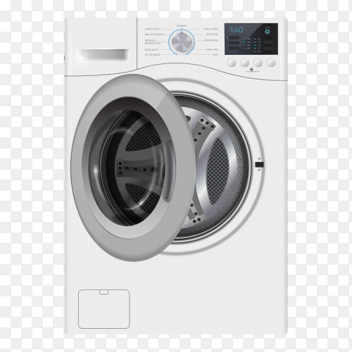 Automatic washing machine premium vector PNG