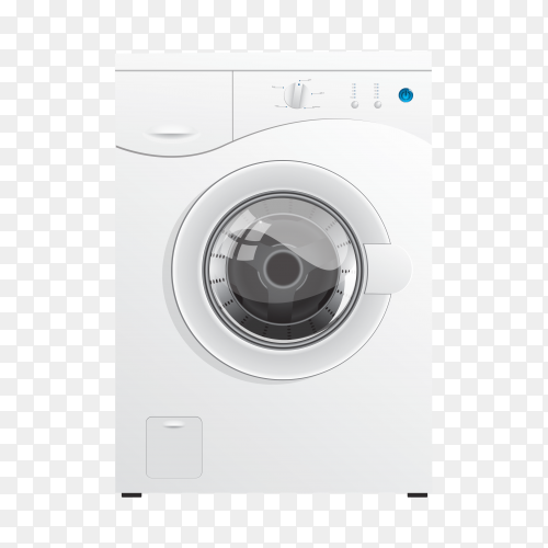 Automatic washing machine vector PNG