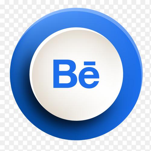 Behance button new design PNG