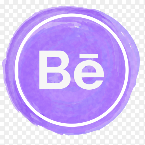 Behance icon watercolor PNG