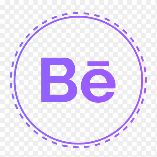 Behance logo in points circle PNG