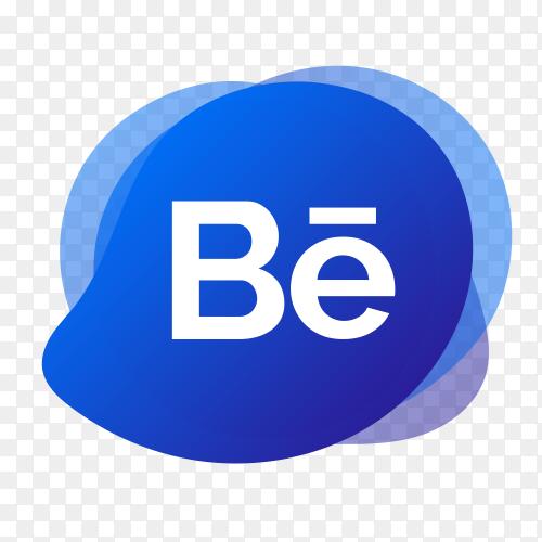 Behance logo with liquid shape PNG