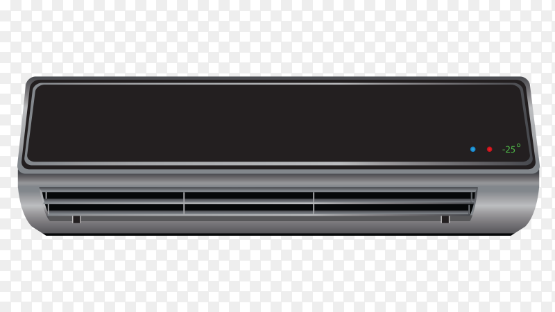 Black air conditioner clipart PNG