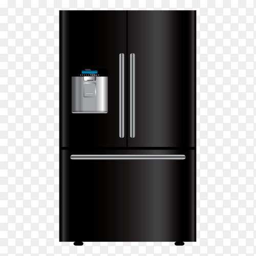 Black refrigerator – fridge clipart PNG